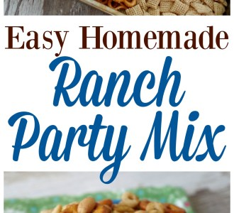 Try this Easy Homemade Ranch Party Mix at your next get together and it will be gone before you know it!