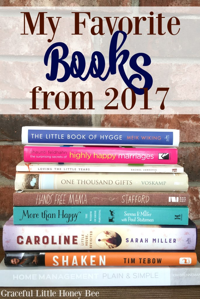Check out my favorite reads from 2017 on gracefullittlehoneybee.com