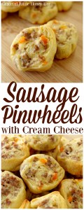 Try these super easy and delicious sausage pinwheels as your next party appetizer on gracefullittlehoneybee.com