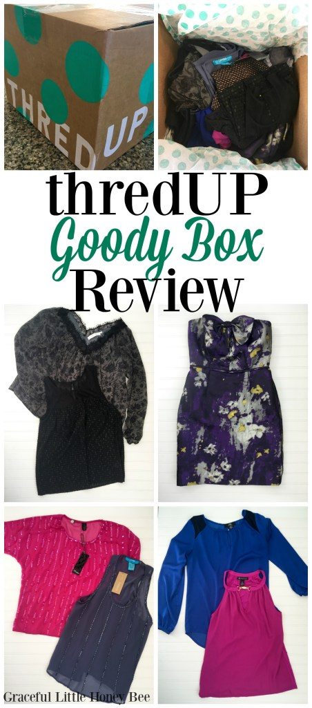 Have you heard of the thredUP Goody Box? It's like Stitch Fix on a budget. Check out my honest review on gracefullittlehoneybee.com