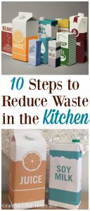 Check out this list of easy ways to reduce waste in the kitchen on gracefullittlehoneybee.com
