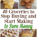 Check out this list of 40 Groceries to Stop Buying and Start Making to Save Money including taco seasoning, chicken broth, peanut butter cookies and more on gracefullittlehoneybee.com