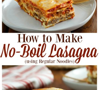 See how easy it is to make No-Boil Lasagna using Regular Noodles for a quick and delicous dinner on gracefullittlehoneybee.com