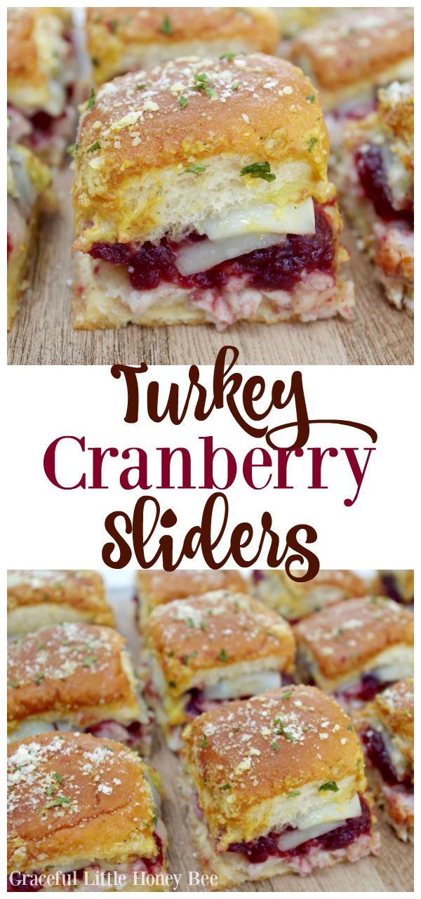 Use up your favorite Thanksgiving leftovers with this delicous Turkey Cranberry Sliders recipe