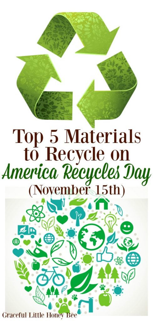 Check out the Top 5 Materials to Recycle on America Recycles Day (November 15th)