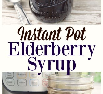 Try this easy recipe for Instant Pot Elderberry Syrup for a quick cold and flu remedy on gracefullittlehoneybee.com