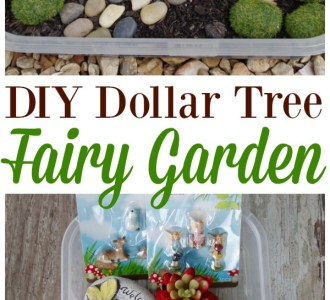 Learn how to make this easy DIY Dollar Tree Fairy Garden on gracefullittlehoneybee.com