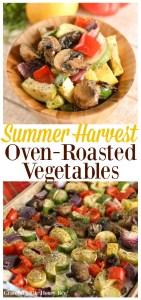 Try these super delicious Summer Harvest Oven-Roasted Vegetables on gracefullittlehoneybee.com