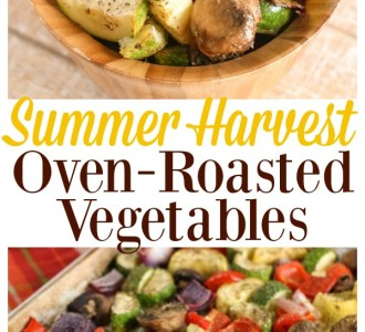 Try these super delicious Summer Harvest Oven-Roasted Vegetables on gracefullittlehoneybee.com