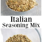 Italian Seasoning Mix on a spoon.