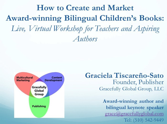 How to Create and Market Award-winning Bilingual Children's Books