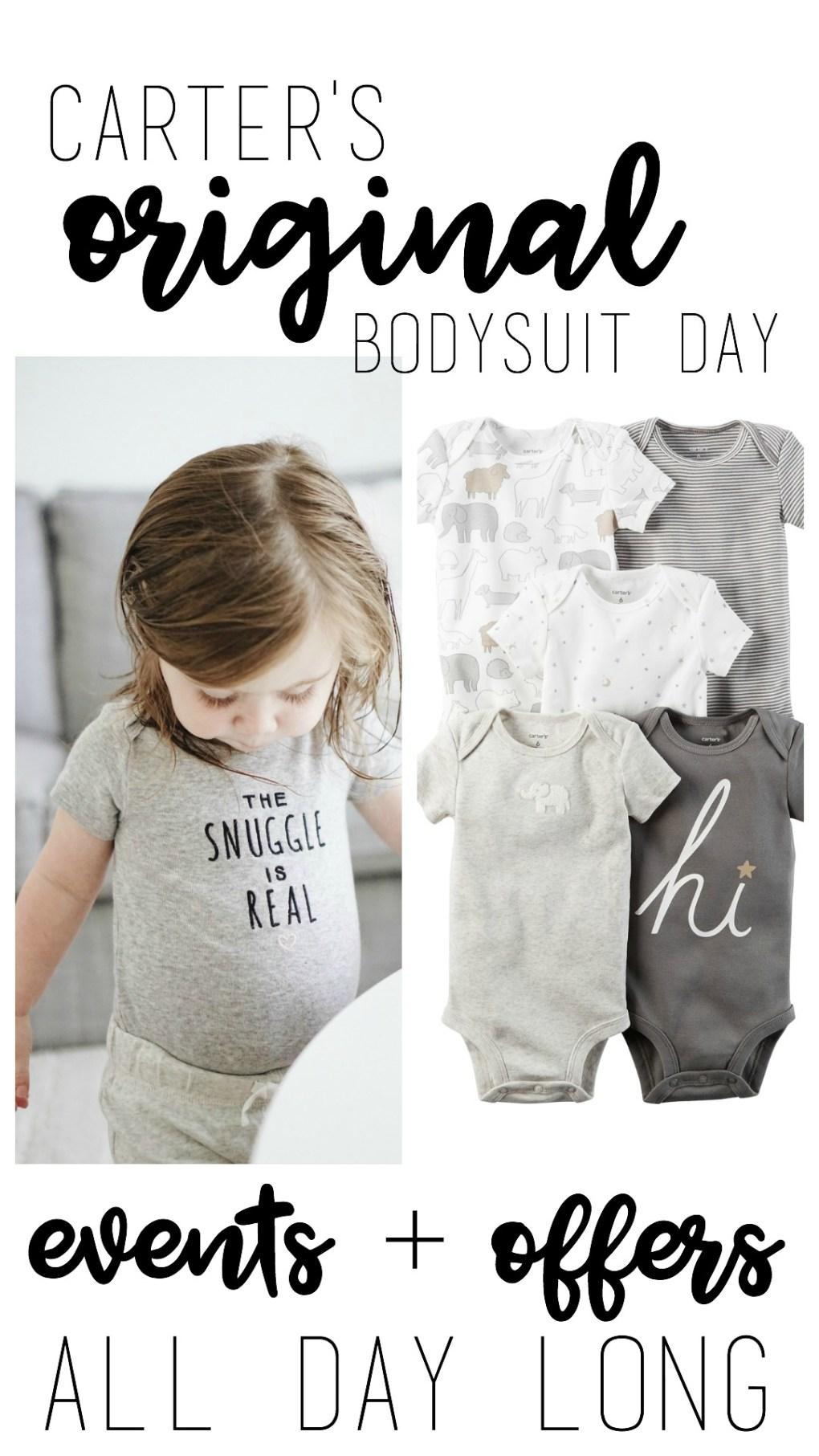 Carter's Original Bodysuit Day - Tons of events + offers all day long!
