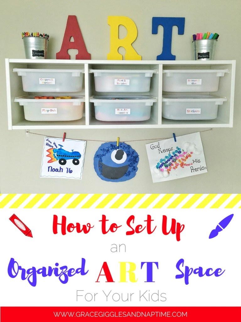 How to Create an Organized Art Space for Your Kids