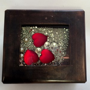 Red Hearts Toy Box