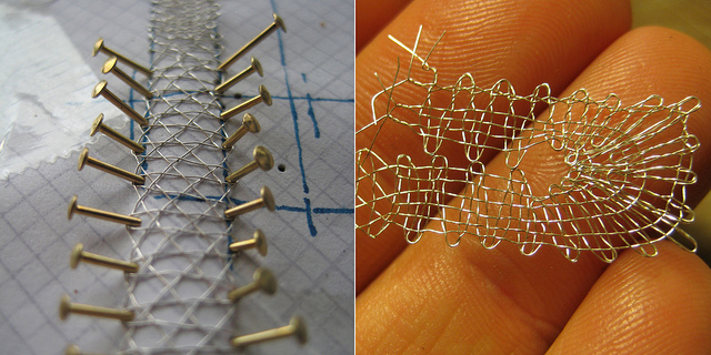 Making Bobbin Lace from Gold Thread
