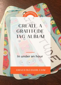 Create a quick and inexpensive Gratitude Tag Album to document your blessing this Thanksgiving Season and beyond