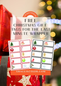 Free Christmas Tags to download and print
