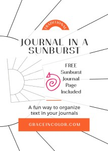 Journaling in a Sunburst with FREE download