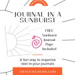 Journaling in a Sunburst {Free Printable}