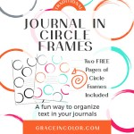 Creative Journaling in Circles {Free Printable}
