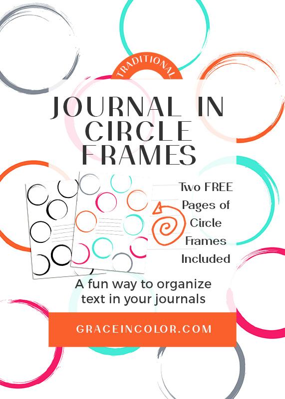 Journal in Circle Frames, FREE Printable Download