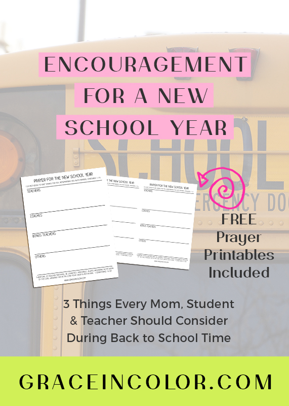 Back to School encouragement for a new year with free printable