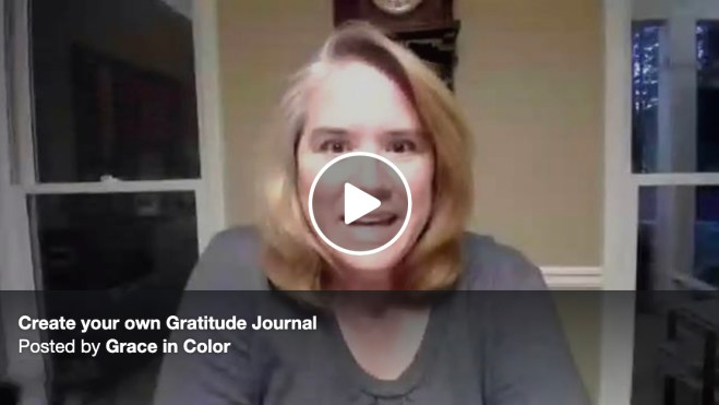 Create Your Own Gratitude Journal {Video} and FREE PRINTABLE