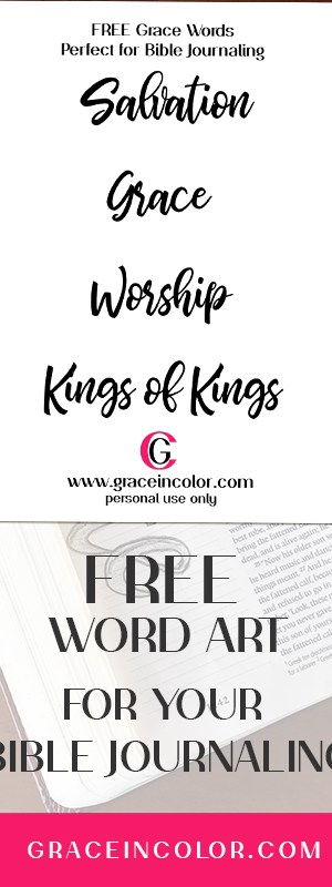 Free Printable Word Art for Bible Journaling (tutorial included