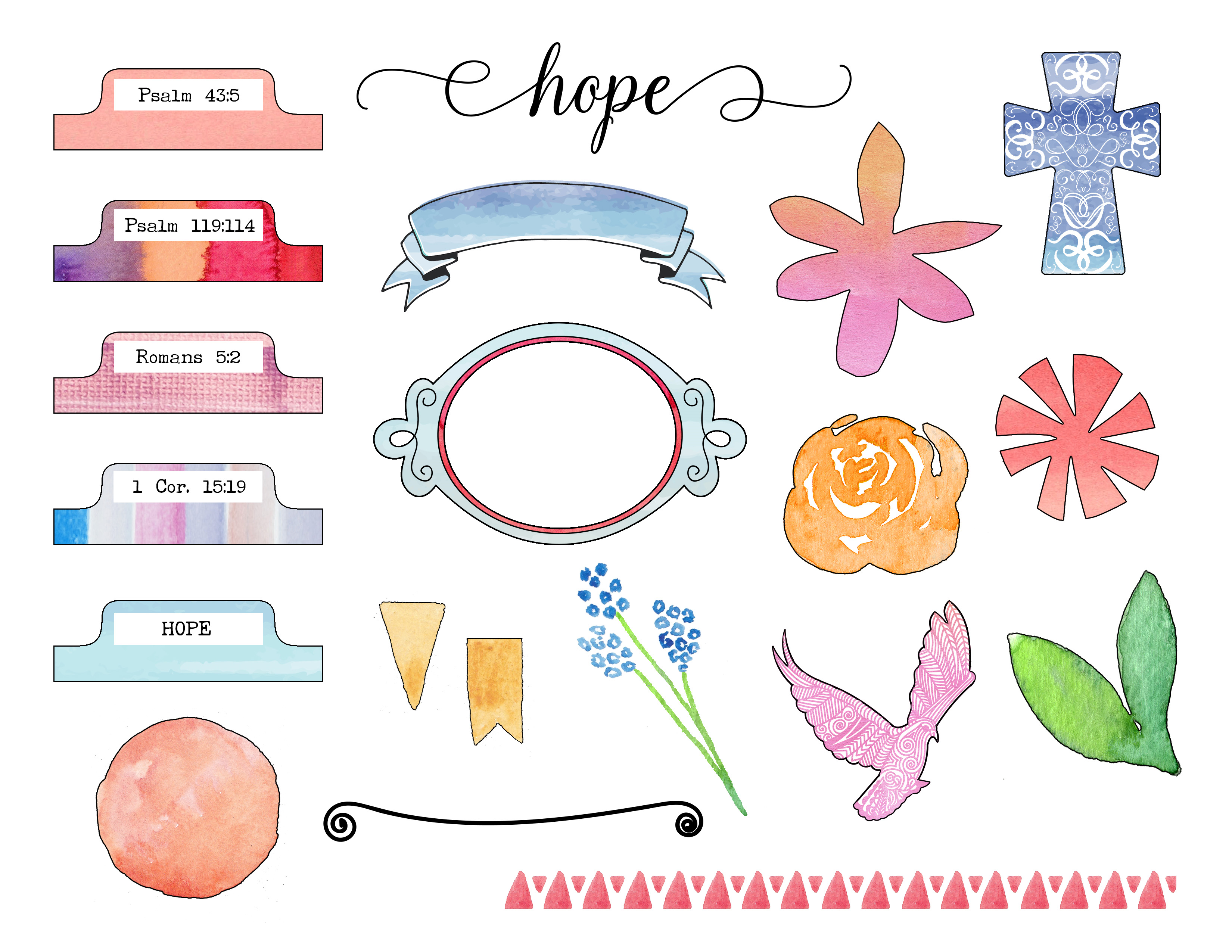 Hope Bible Journaling Mini-Kit by Grace in Color