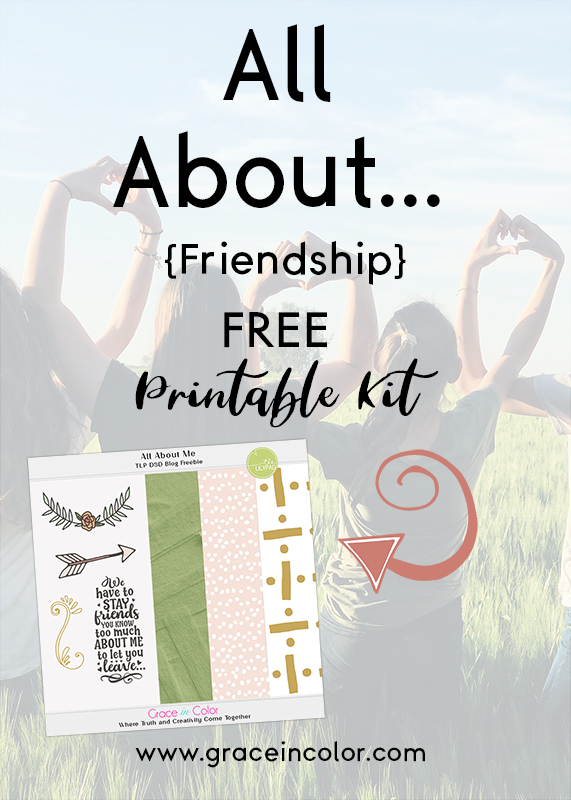Free Printable Digital Kit from www.graceincolor.com at The Lilypad.