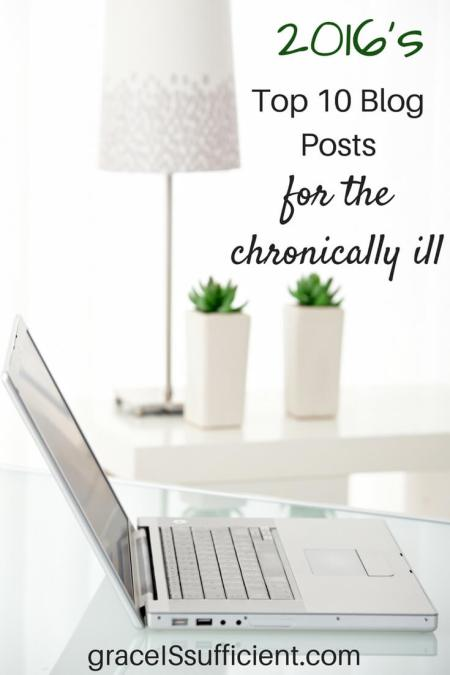 2016's top ten blog posts for the chronically ill