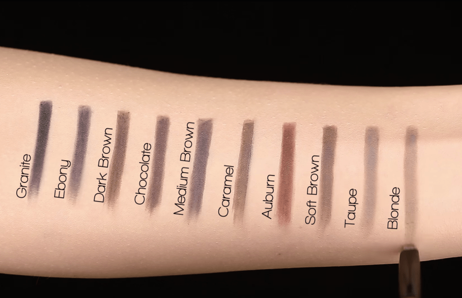 Brow Definer - Swatches