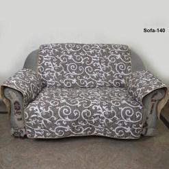 sofa coat brown printed