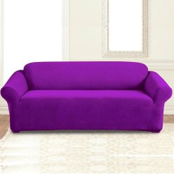 jersey sofa cover purple
