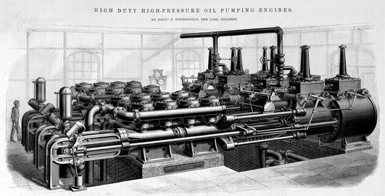 Henry R. Worthington pump engine