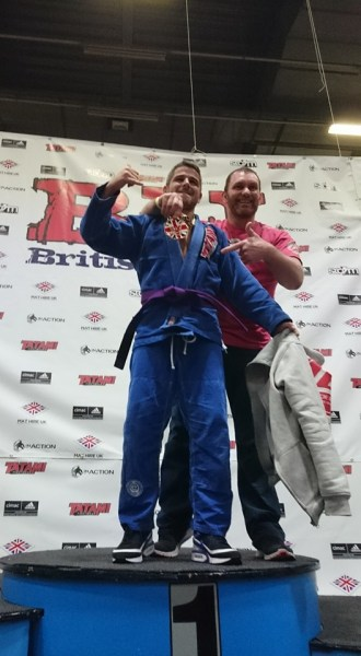 Kevin McCall Gold at the 2016 British Open Gracie Barra Belfast