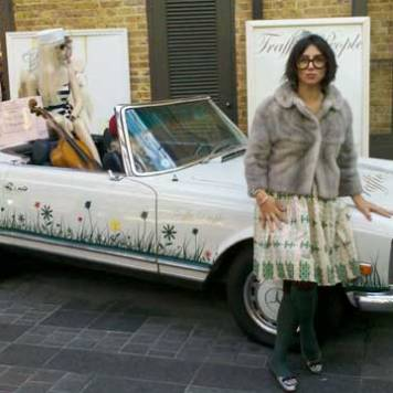 Gracie Opulanza with Fur Coat