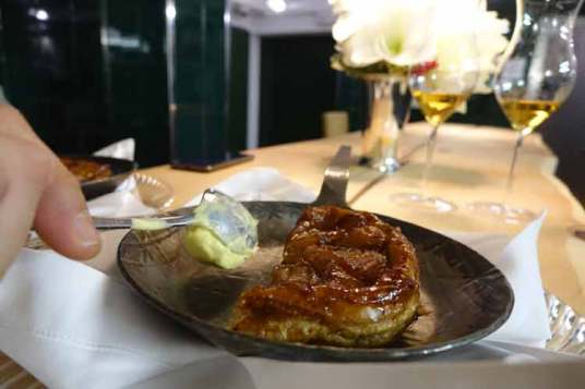 2008 TARTE TATIN SERVED WITH HOMEMADE VANILLA ICE -CREAM