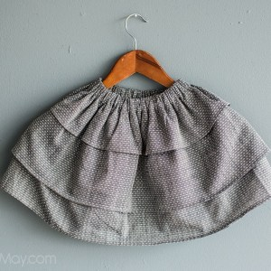 Chambray Dots Perfect Twirls Skirt by Gracious May