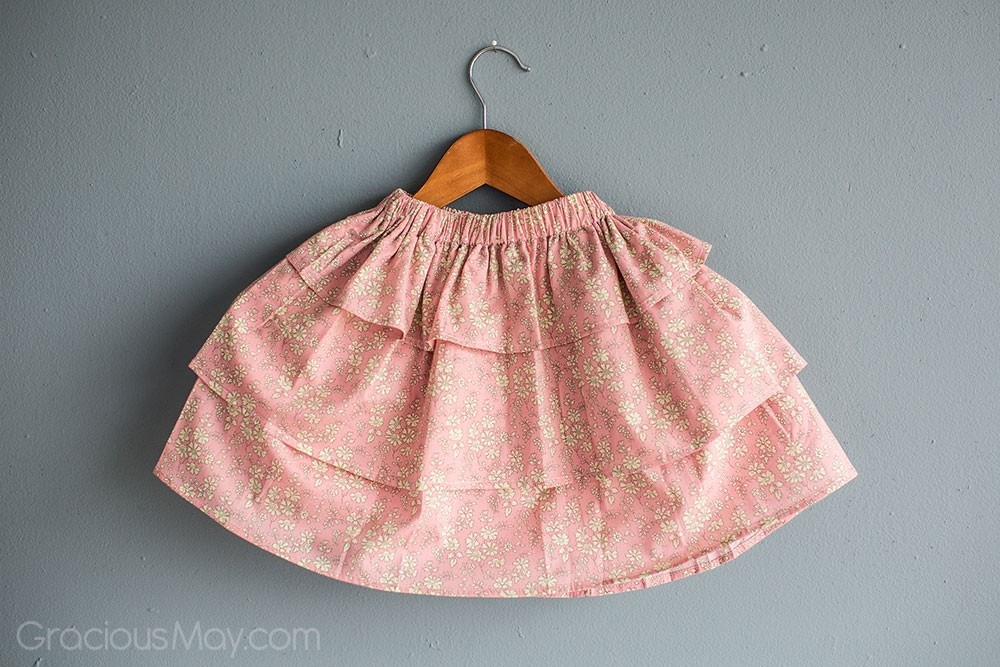 Pink Capelle Perfect Twirls Skirt by Gracious May