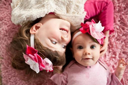 Cute Pink Flower Headbands for Girls Baby
