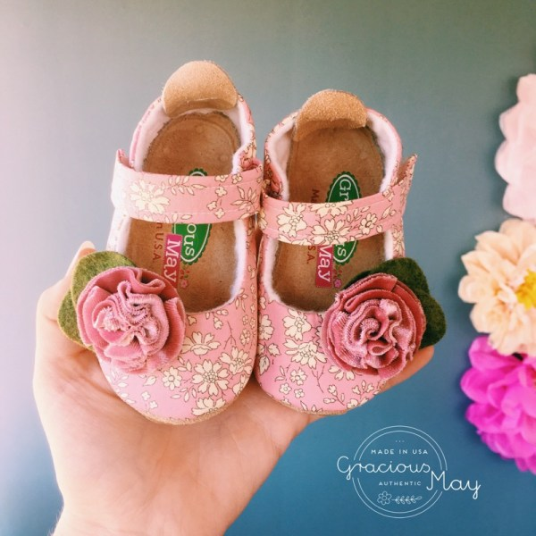 Gracious May Made in USA Baby Girl Shoes Pink