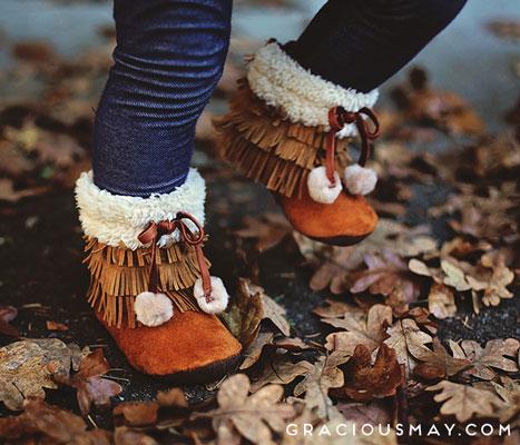 Gracious May  MoccLuk Fur Boots