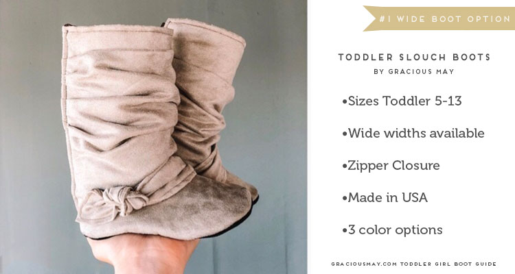 Wide Width Toddler Girl Boots by Gracious May
