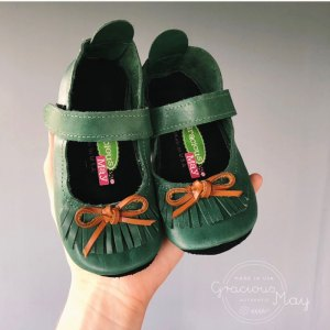 Green Fringe Toddler Girl Shoes