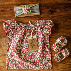 Baby Gifts sets for girls Made in the USA with matching clothes shoes and headband Gracious May