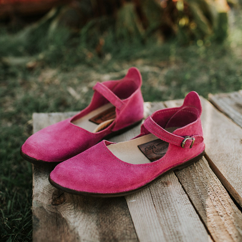 Womens Fuchsia Mary Jane Shoes made in the USA by Gracious May