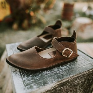 Gracious May Oil Tan Artisan Buckle Mary Janes for Women Made in the USA American Made Shoes.jpg