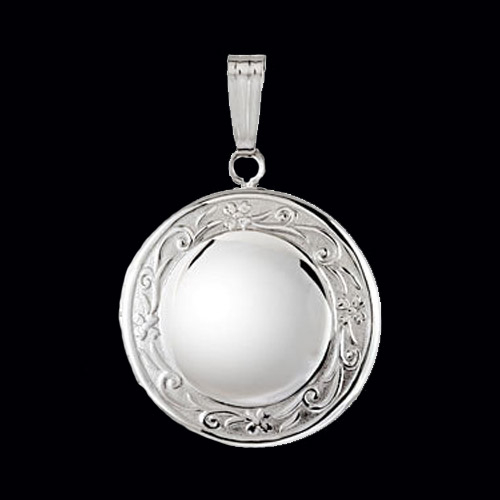 Round Sterling Silver Oval Locket  Gracious Rose