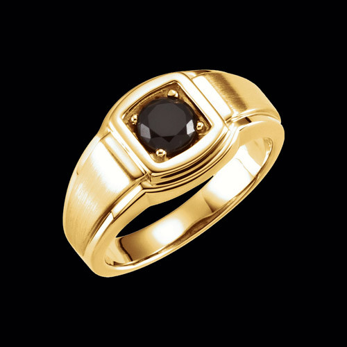 Sophisticated Mens Onyx Ring